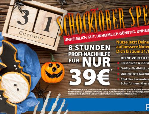 Unser Schocktober Special 2021: 8 Stunden nur 39€!